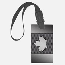 Canadian Flag Brushed Metal Cana Luggage Tag
