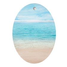 Beautiful Beach Oval Ornament