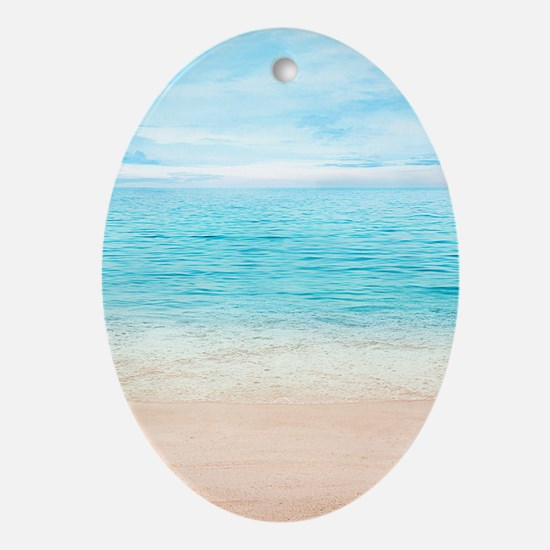 Beautiful Beach Oval Ornament