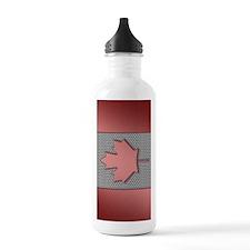 Canadian Flag Brushed  Sports Water Bottle