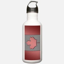 Canadian Flag Brushed  Sports Water Bottle