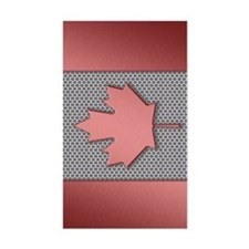 Canadian Flag Brushed Metal Decal