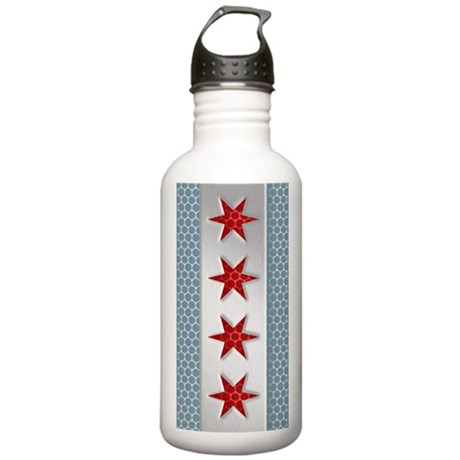 Chicago Flag Brushed M Stainless Water Bottle 1.0L