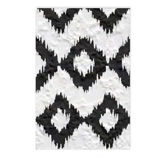 Ikat Black and White Plas Postcards (Package of 8)