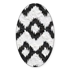 Ikat Black and White Plaster Patter Decal