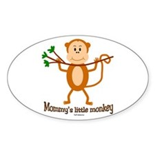 Mommy's Little Monkey Oval Decal