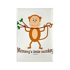 Mommy's Little Monkey Rectangle Magnet