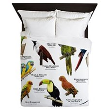 Tropical Birds of Central and South Am Queen Duvet