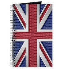 Union Jack Brushed Metal Flag Journal