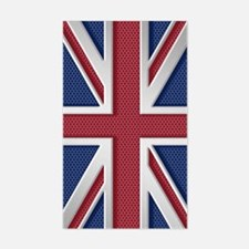Union Jack Brushed Metal Flag Decal