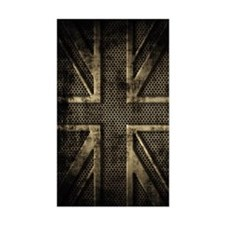 Union Jack Brushed Metal Grung Decal