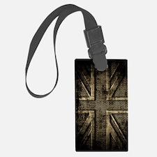 Union Jack Brushed Metal Grunge Luggage Tag