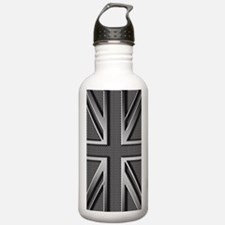 Union Jack Brushed Met Water Bottle