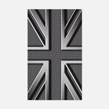 Union Jack Brushed Metal Decal