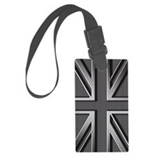 Union Jack Brushed Metal Luggage Tag