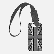 Union Jack Brushed Metal Luggage Tag