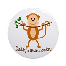 Daddy's Little Monkey Ornament (Round)