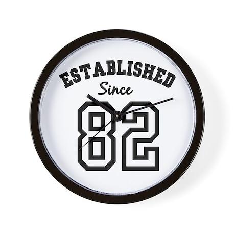 Established Since 1982 Wall Clock