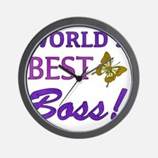 Worlds Best Boss (Butterfly) Wall Clock