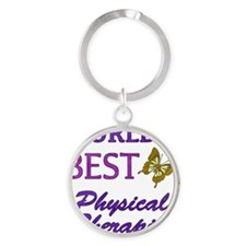 Worlds Best Physical Therapist (But Round Keychain