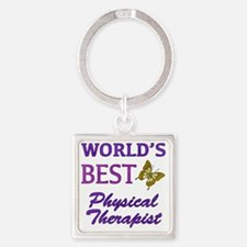 Worlds Best Physical Therapist (Bu Square Keychain