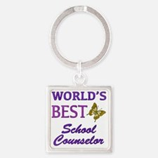 Worlds Best School Counselor (Butt Square Keychain