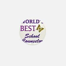 Worlds Best School Counselor (Butterfl Mini Button