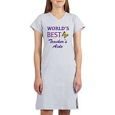 Worlds Best Teachers Aide (Butt Women's Nightshirt