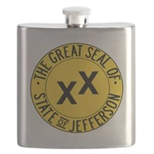 State of Jefferson Seal Flask