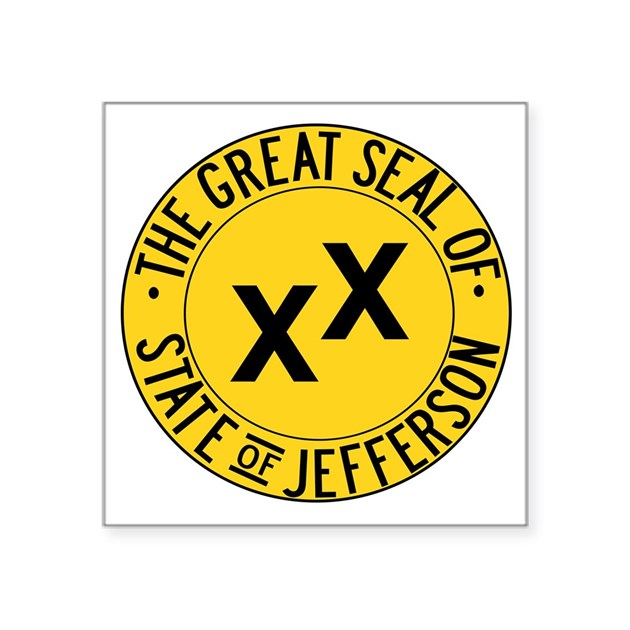 State Of Jefferson Seal Square Sticker 3 Quot X 3 Quot By Admin