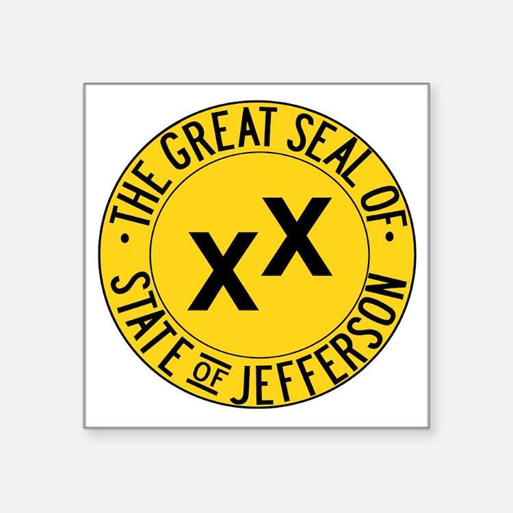 "State of Jefferson Seal Square Sticker 3"" x 3"""
