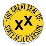 State of jefferson Round Car Magnets