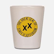 State of Jefferson Seal Shot Glass