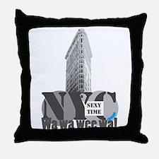 sexy time NYC Flatiron Throw Pillow
