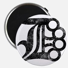 Detroit D Brass Knuckles Magnet