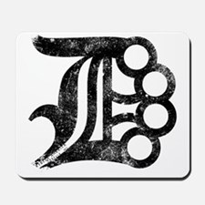 Detroit D Brass Knuckles Mousepad