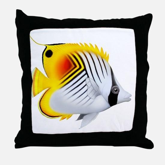 Auriga Threadfin Butterfly Throw Pillow