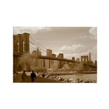 Brooklyn Bridge Sepia Rectangle Magnet