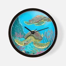 Cute Sea Turtles Wall Clock