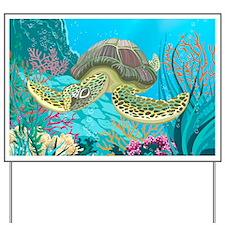 Cute Sea Turtles Yard Sign