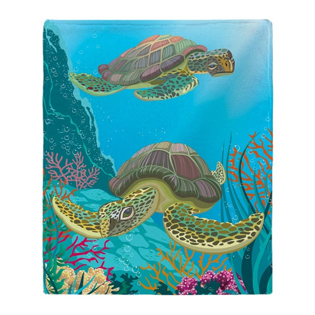 Cute Sea Turtles Throw Blanket By Admin Cp11748871