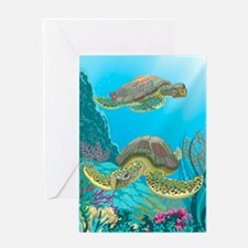 Cute Sea Turtles Greeting Card