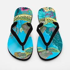 Cute Sea Turtles Flip Flops