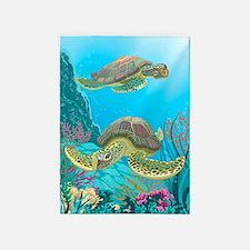 Cute Sea Turtles 5'x7'Area Rug