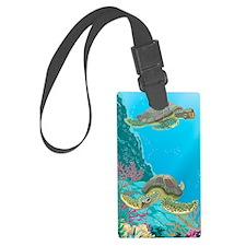 Cute Sea Turtles Luggage Tag