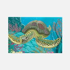 Cute Sea Turtles Rectangle Magnet