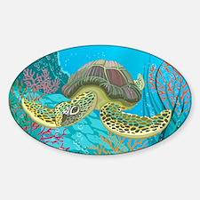 Cute Sea Turtles Sticker (Oval)
