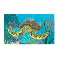 Cute Sea Turtles 3'x5' Area Rug