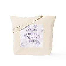 Snowflakes 1st Christmas Together Tote Bag