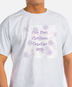 Snowflakes 1st Christmas Together T-Shirt